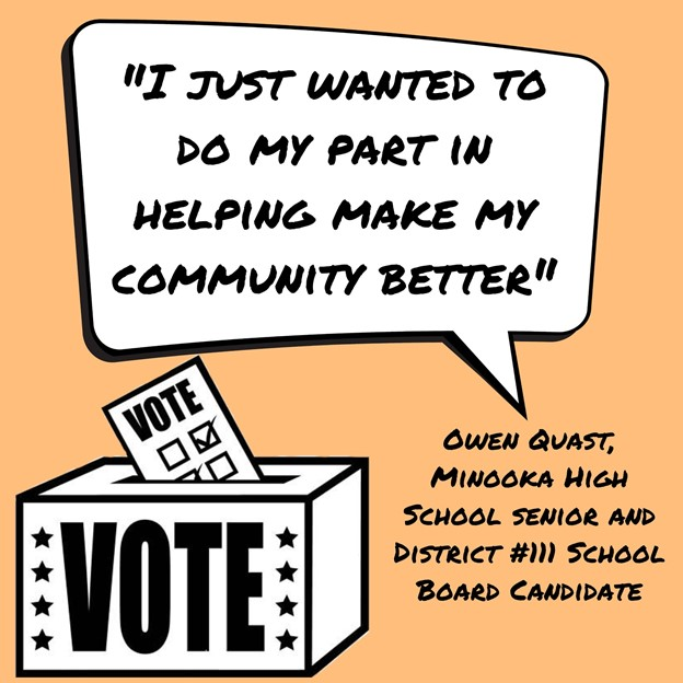 """I just wanted to do my part in making my community better,"" Quast said."
